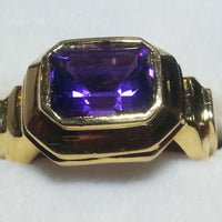 Ring 8.52g 18K 1.25ct Amethyst