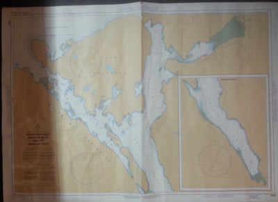 Nautical Chart / Map: Malaspina Inlet, Okeover Inlet, and Lancelot Inlet, B.C.