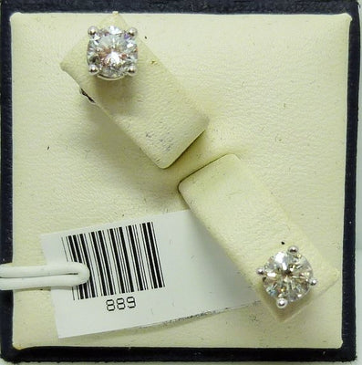 1.28g 14K white gold 2x0.30ct RB I I-J