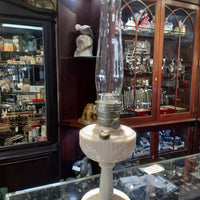 Coal Oil Ivory Glass Aladdin Lamp (never used) , with locking chimney