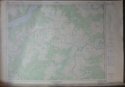 Nautical Chart / Map: Little Toba River. 92 K/8, 1976