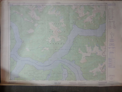 Nautical Chart / Map: Toba Inlet 92 K/7 1980