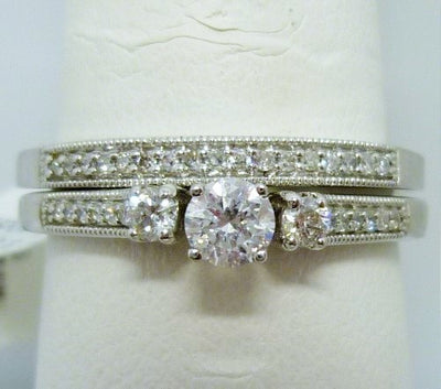 Ring Set 3.34g  10K;  0.20ct I2  E-F;  0.30cttw melee diamonds