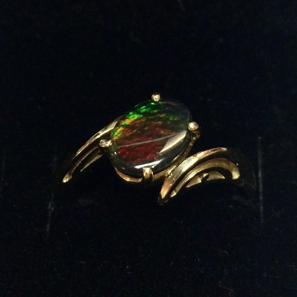 2.5g 14k Yellow Gold Ammolite Ring