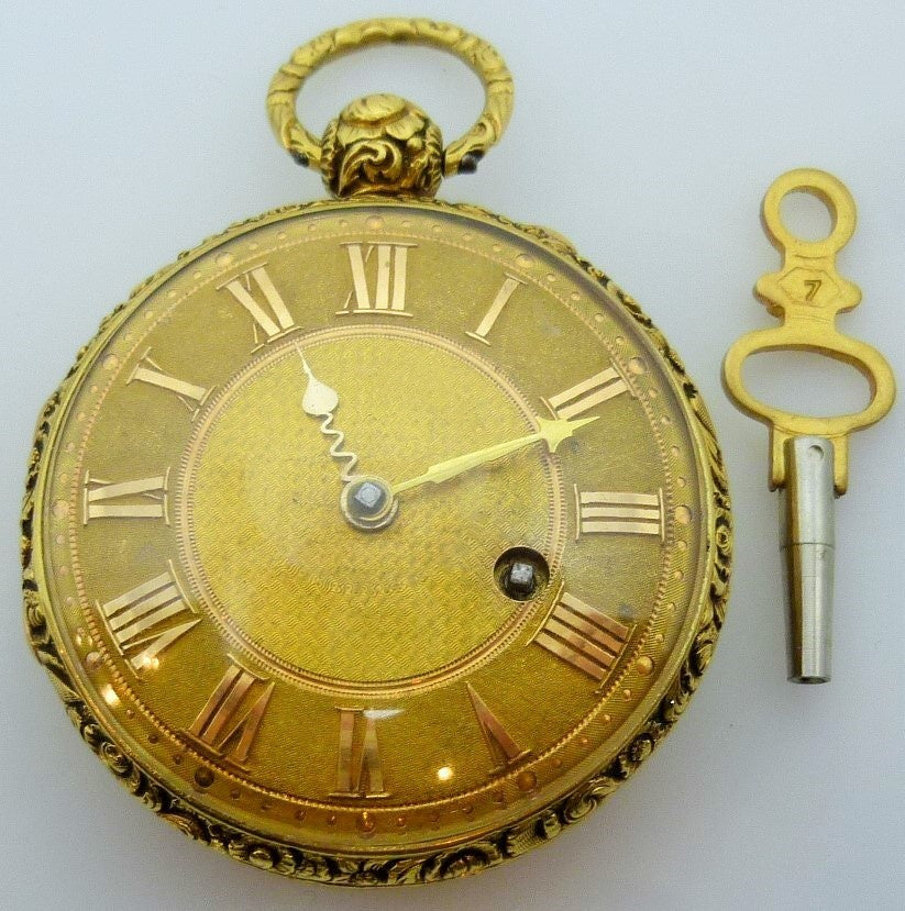 18K gold pocket watch Hallmarked London 1821