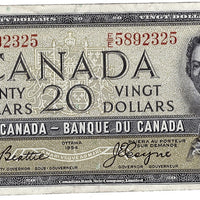 1954 $20 Note Bank of Canada - VF