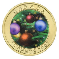 2007 50c Holiday Ornaments - Lenticular Coin