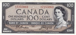 1954 $100 Note Bank of Canada - EF