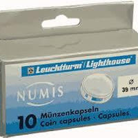 50mm Coin Capsules - 10 Pack