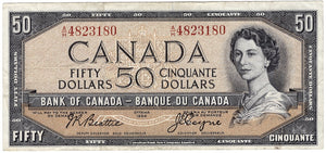 1954 $50 Note Bank of Canada - EF