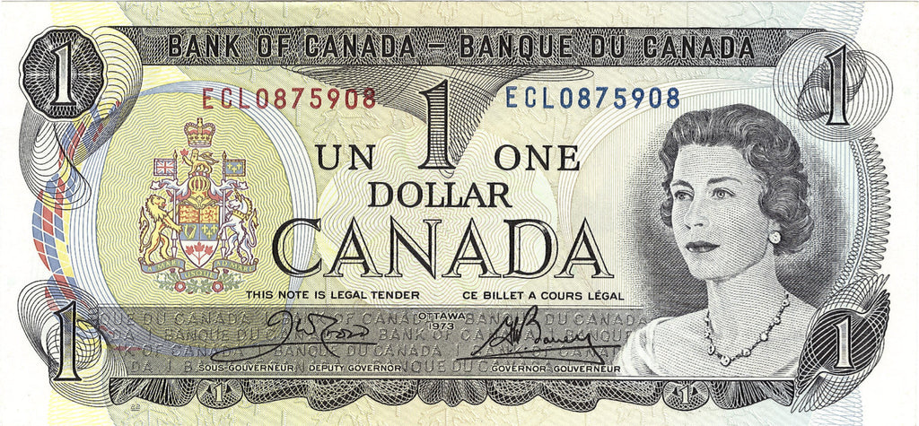 1973 $1 Note Bank of Canada - Sequential