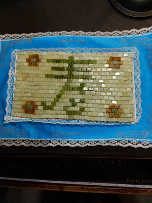 Hand woven jade bead pillow/mat with 391 jade beads