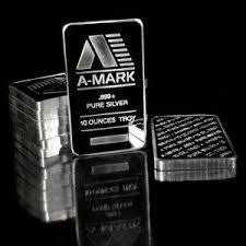 A-Mark 10 Ounce SiIver Bar