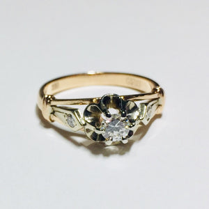 3.4g 14k Rose Gold 0.24ct SI 1 H Diamond Engagement Ring