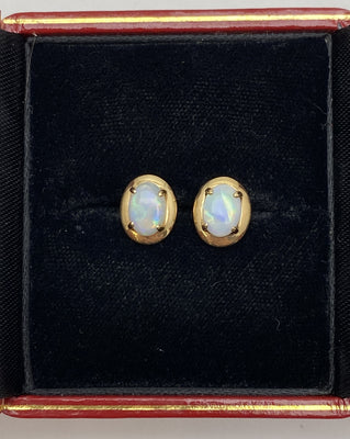 Gold Studs with Opals