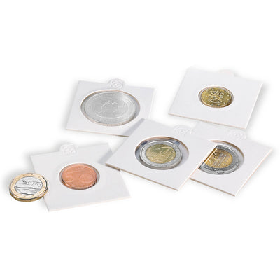 17.5mm  Self-Adhesive 2x2 Coin Holders