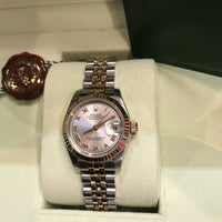 2008 Rolex Rose Gold Ladies Oyster Datejust