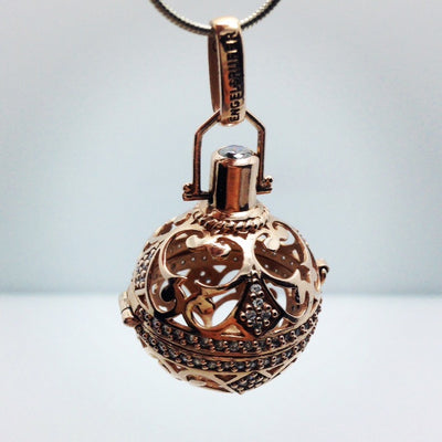 Rose Gold Plated Silver Wish Box Pendant