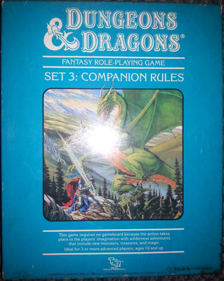 Dungeons and Dragons Set 3: Companion Rules.