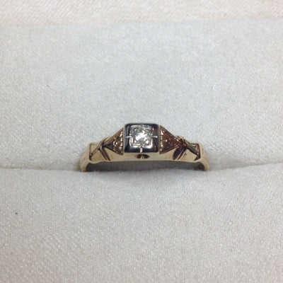 14k Gold Antique Diamond Ring