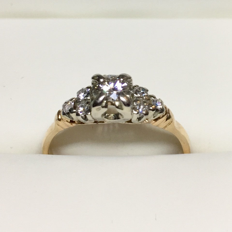 1.9g 14k Yellow Gold .17ct SI1 G Diamond Ring