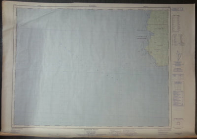 Nautical Chart / Map: Estevan Point, British Columbia. 92 E/7, 1980. Edition 4