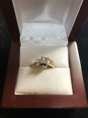 1ct VS1 F 14k Yellow Gold Diamond Ring