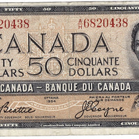 1954 $50 Note Bank of Canada - F