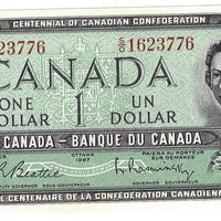 1954 $1 Note Bank of Canada - UNC