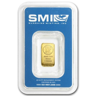 Sunshine Mint 1 Gram Gold Bar