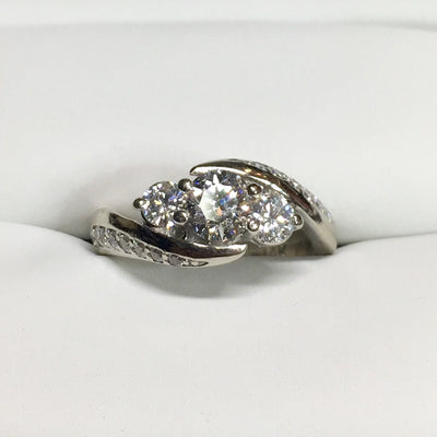 4.1g 14k White Gold .51ct I1 G Diamond Ring