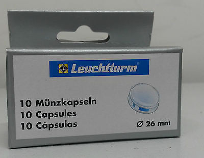 32mm Coin Capsules - 10 Pack