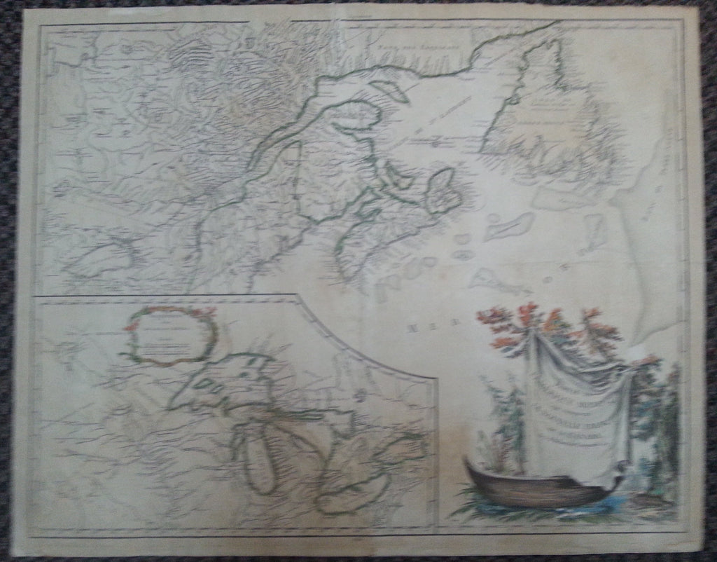 Vaugondy Map of Canada, 1755