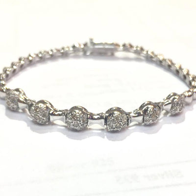 12.5g 18k White Gold Diamond Bracelet