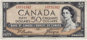 1954 $50 Note Bank of Canada - VF