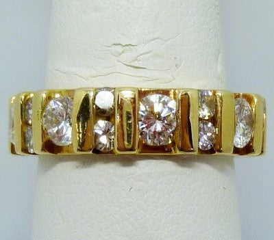Ring 8.10g 18K Yellow Gold Eternity Band with 1.59 cttw