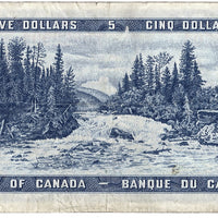 1954 $5 Note Bank of Canada - VG