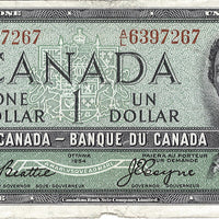 1954 $1 Note Bank of Canada