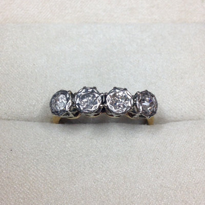 18k Antique Gold Diamond Ring