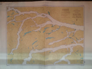Nautical Chart / Map: Chatham Point to Port Harvey, B.C.