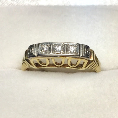 2.2g 14k Yellow Gold Diamond Ring