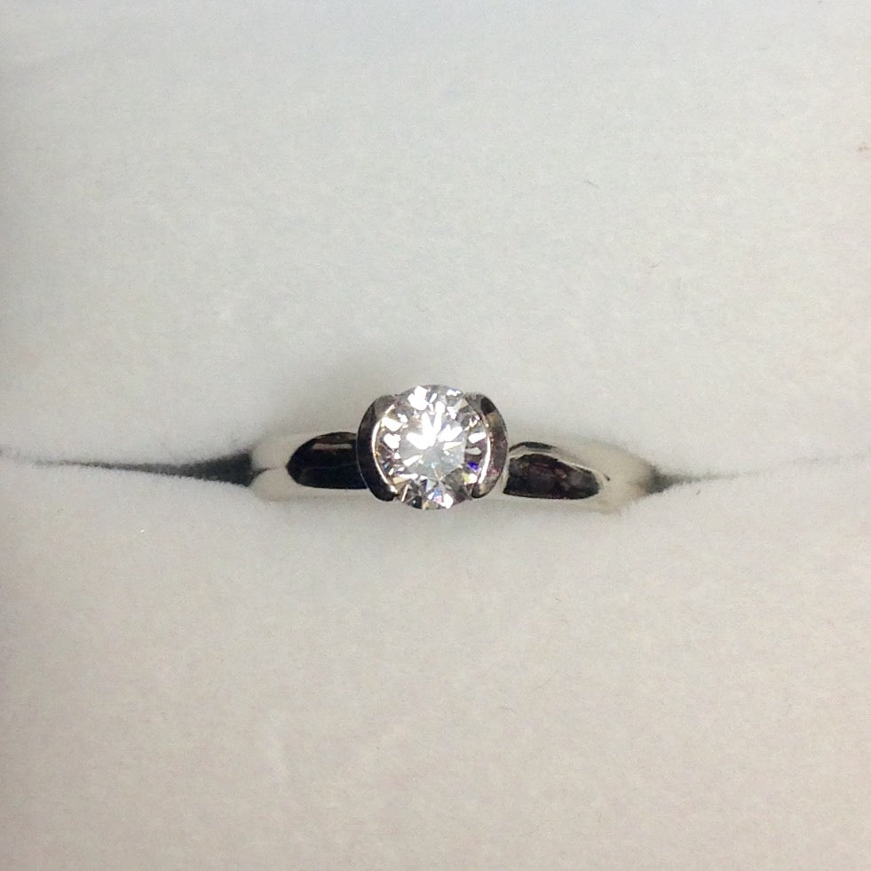 Ring 2.3G 14K Gold .51 SI1 E Diamond