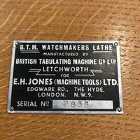 B.T.M. Watchmakers Lathe