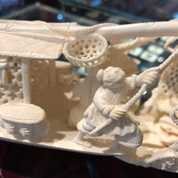 Ivory Fishing Boat Chinese