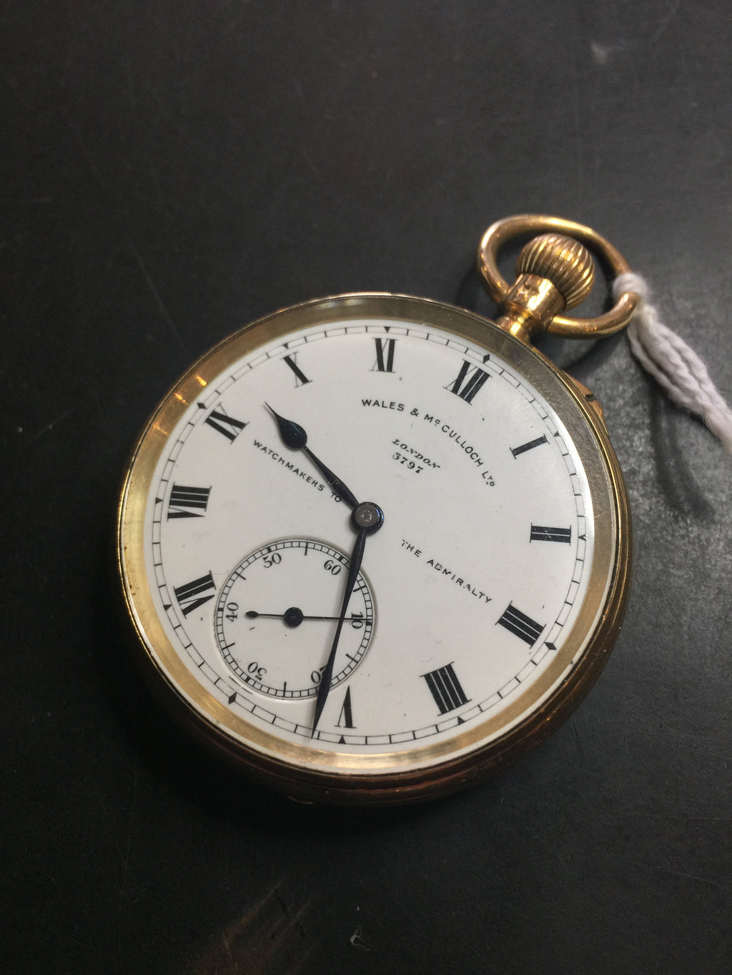 Wales and McCulloch Open Face Men's Pocket Watch