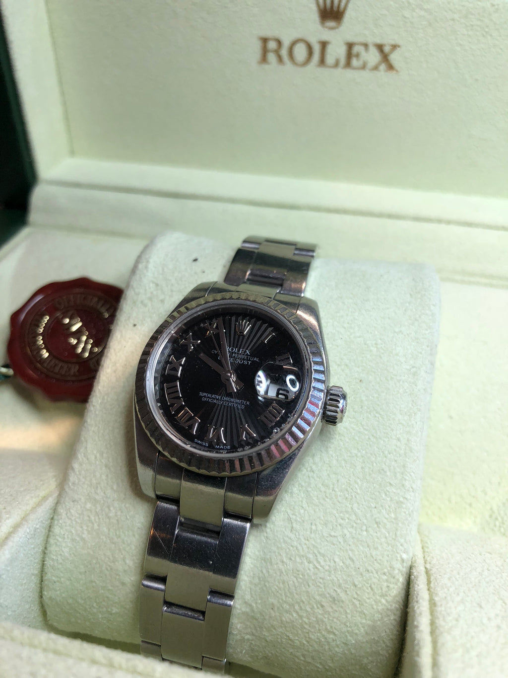 Rolex Datejust 2007 Ladies Stainless Sunburst Roman Numeral