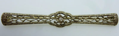 Edwardian style brooch 0.01ct diamond