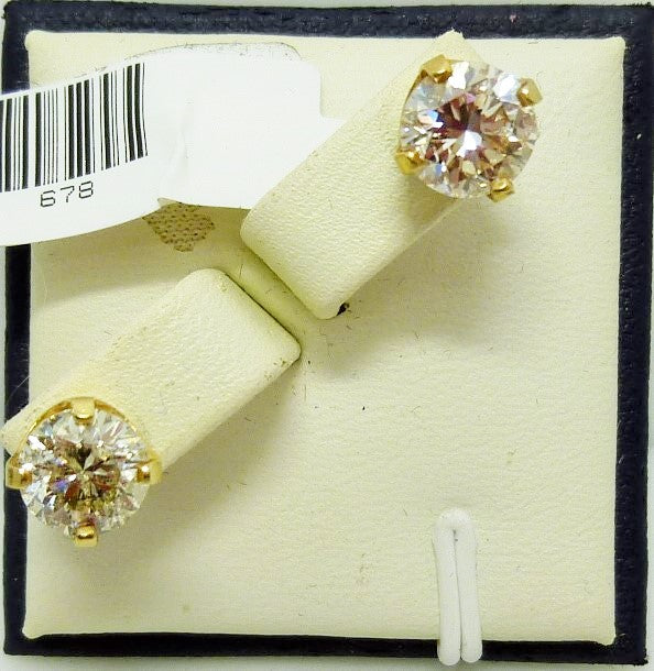 Earrings 1.98 grams 14 K yellow gold