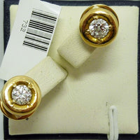 Earrings 5.16g 14K yellow gold 0.70cttw I1 G-H