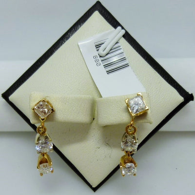 Dangle earrings 2.3g  10K  yellow gold 1.50cttw  I G-J